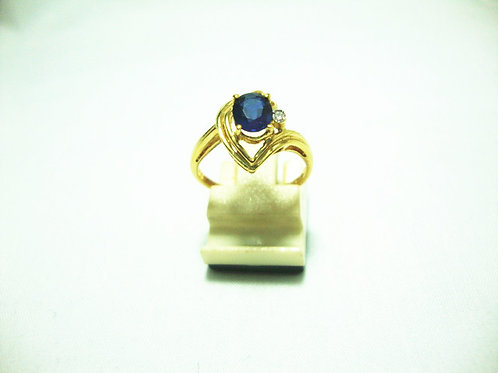 18K GOLD DIA SAPPHIRE RING 1/1P