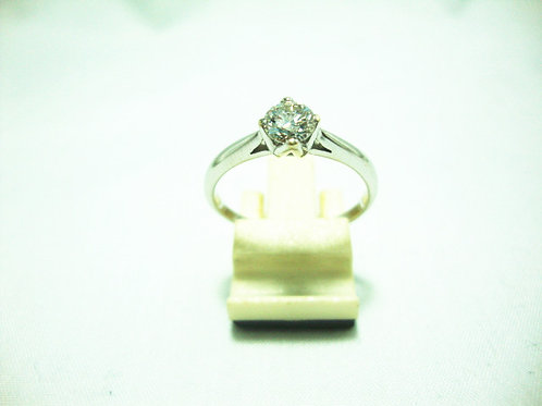 18K WHITE GOLD DIA RING 1/50P