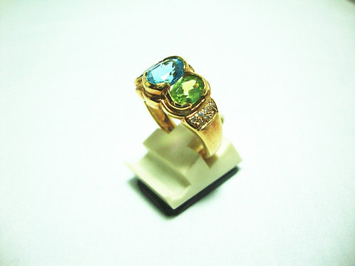 18K GOLD DIA STONE RING 14/14P