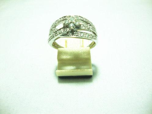 18K WHITE GOLD DIA RING35/76P