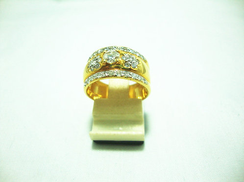 18K GOLD DIA RING 1/25P 36/72P