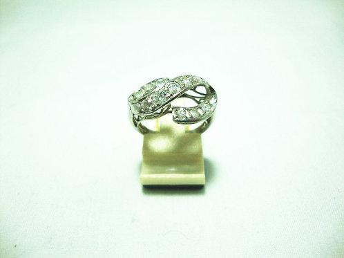 18K WHITE GOLD DIA RING 11/80P