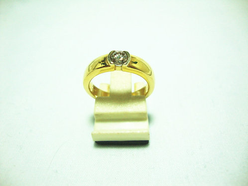 18K GOLD DIA RING 1/35P