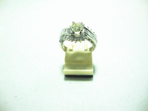 18K WHITE GOLD DIA RING 1/50P 18/36P 12/36P