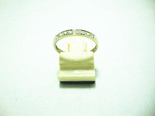 10K WHITE GOLD DIA RING 8/8P