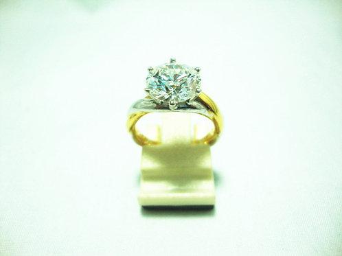 18K WHITE GOLD DIA RING 1/2.65CT ( CERT )