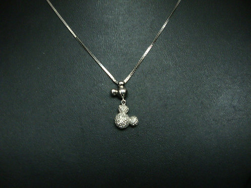 18K WHITE GOLD DIA NECKLACE