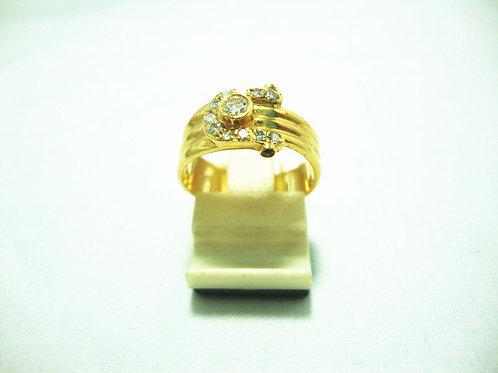 18K GOLD DIA RING 1/8P 11/22P