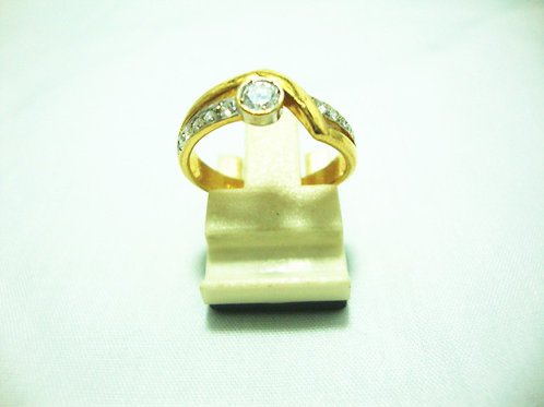 20K GOLD DIA RING 3/3P 35P