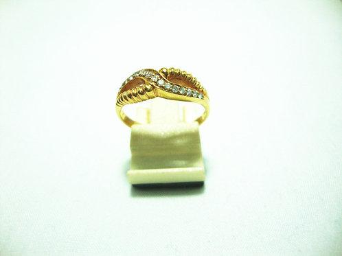 18K GOLD DIA RING 15/45P