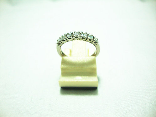 14K WHITE GOLD DIA RING 35P