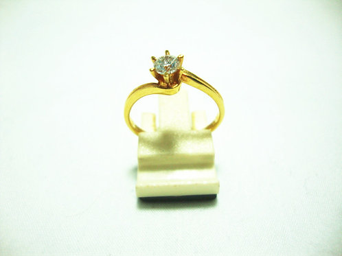 18K GOLD DIA RING 25P