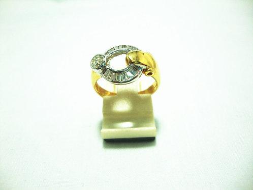 20K GOLD DIA RING 17/50P