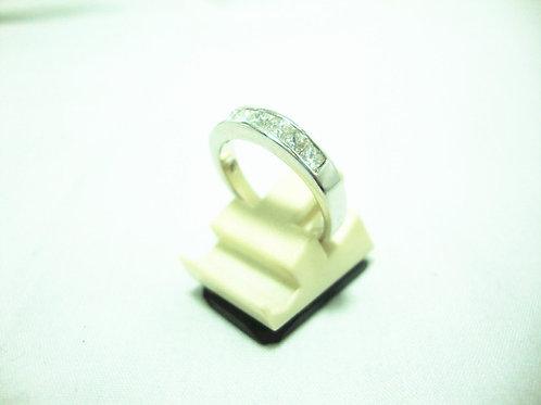 18K WHITE GOLD DIA RING 7/56P