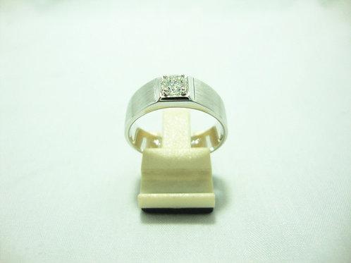 18K WHITE GOLD DIA RING 1/48P