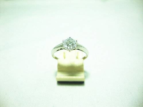 18K WHITE GOLD DIA RING 1/10P 11/11P