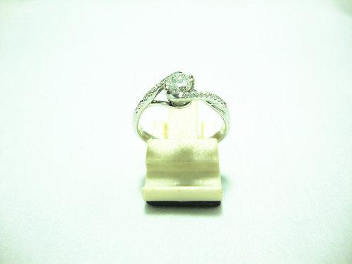 18K WHITE GOLD DIA RING 1/25P 20/20P