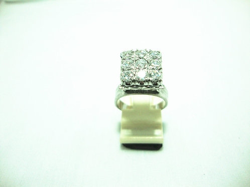 18K WHITE GOLD DIA RING 9/153P
