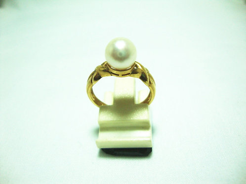 18K GOLD PEARL RING