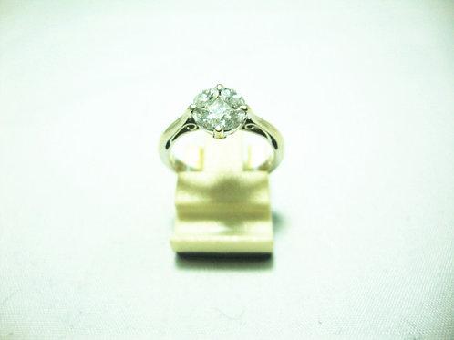 18K WHITE GOLD DIA RING 5/50P