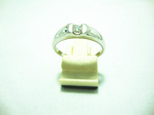 18K WHITE GOLD DIA RING 1/20P 2/20P