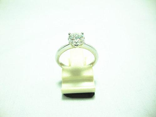 18K WHITE GOLD DIA RING 1/101P ( CERT )