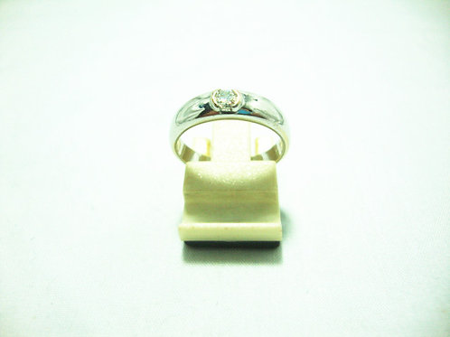 18K WHITE GOLD DIA RING 1/17P