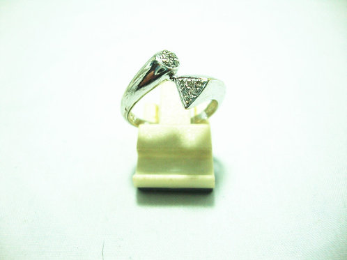 9K WHITE GOLD DIA RING 13/13P