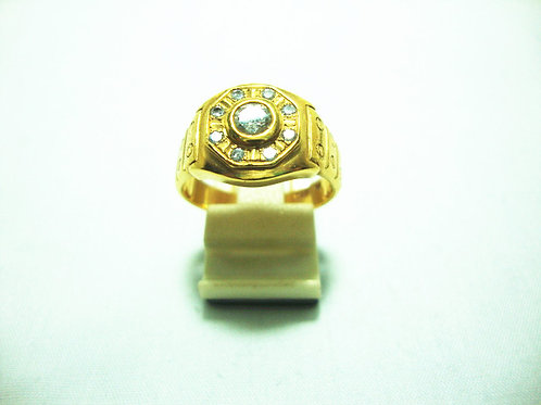20K GOLD DIA RING 1/33P 8/8P