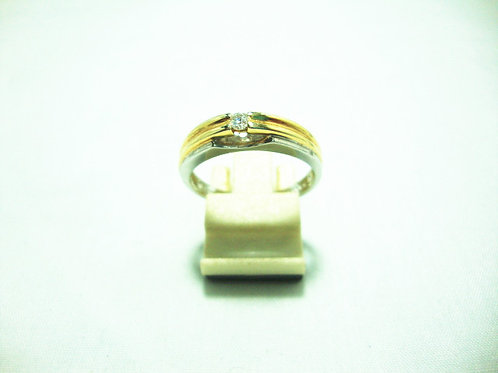 9K WHITE GOLD DIA RING 1/6P