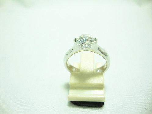 PT950 WHITE GOLD DIA RING 1/102P 3/15P