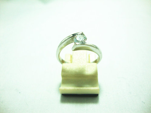 18K WHITE GOLD DIA RING 1/35P