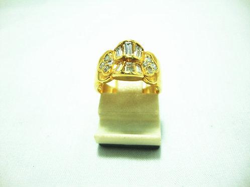 18K GOLD DIA RING 8/16P 6/30P