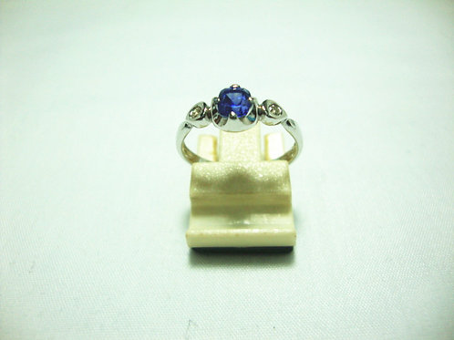 18K WHITE GOLD DIA RING 2/10P
