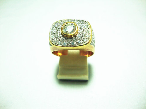18K GOLD DIA RING 1/75P 53P