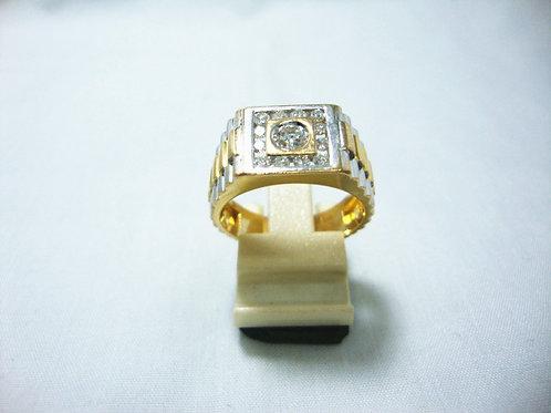 14K GOLD DIA RING 12/36P 1/35P