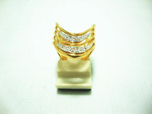 916 GOLD DIA RING 10/10P