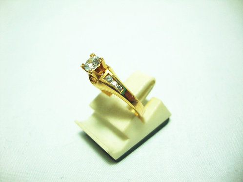 20K GOLD DIA RING 1/20P 2/4P 4/4P