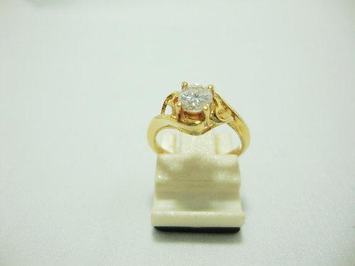 916 GOLD DIA RING 1/40P