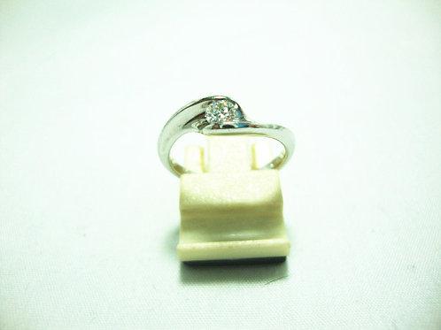 18K WHITE GOLD DIA RING 1/20P