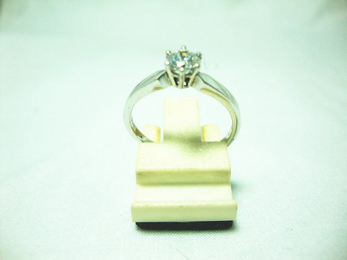 18K WHITE GOLD DIA RING 1/0.36CT ( CERT )
