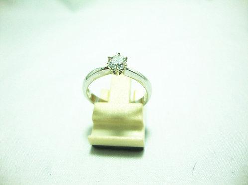 18K WHITE GOLD DIA RING 1/37P