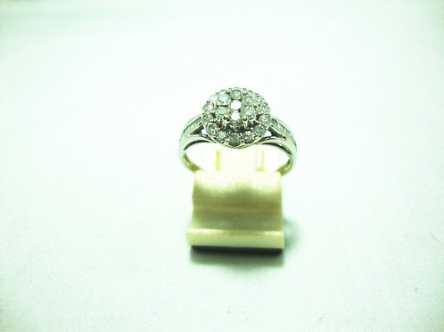 18K WHITE GOLD DIA RING 22/110P