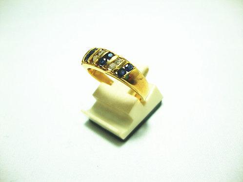 18K GOLD DIA SAPPHIRE RING 40P