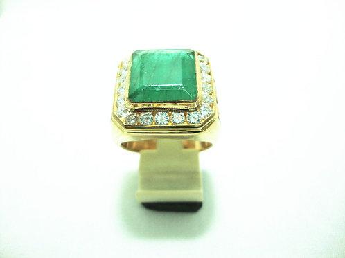 18K GOLD DIA JADE RING 22/176P