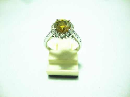 18K WHITE GOLD DIA RING 1/1CT 22/66P
