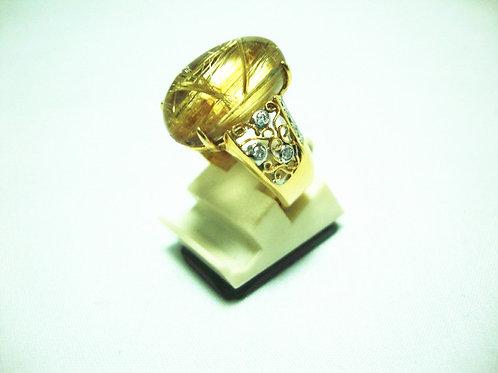 20K GOLD DIA STONE RING 12/36P