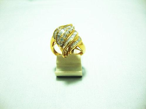 18K GOLD DIA RING 7/23P 53/106P