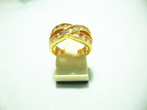 18K GOLD DIA RING 21/168P