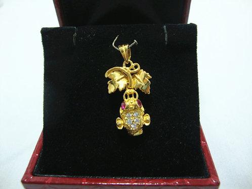 916 GOLD STONE PENDANT